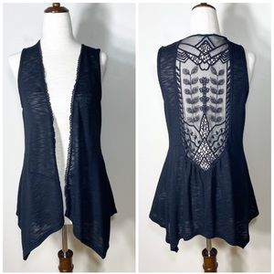 MAURICES   lace accent draped layering top